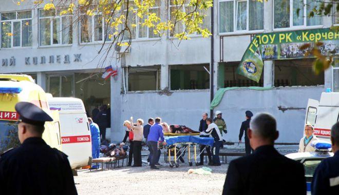 Foto: Presa rusă, în stare de șoc  după masacrul de la liceul din Crimeea