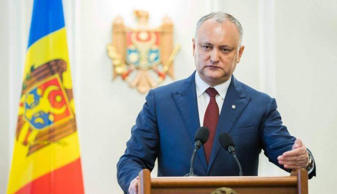 Foto: Președintele moldovean Igor Dodon cere sprijinul SUA