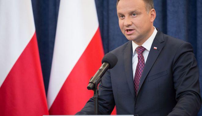 """Foto: Președintele polonez Andrzej Duda denunță """"tendințele imperialiste"""" ale Moscovei"""