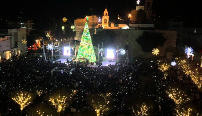 Protest anti-Trump! Palestinienii  au stins luminile de Crăciun din Betleem - protest-1512657520.jpg