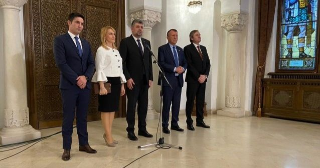 """Foto: Consultări la Cotroceni / Ciolacu: """"Nu vom vota niciun fel de guvern minoritar al PNL"""""""