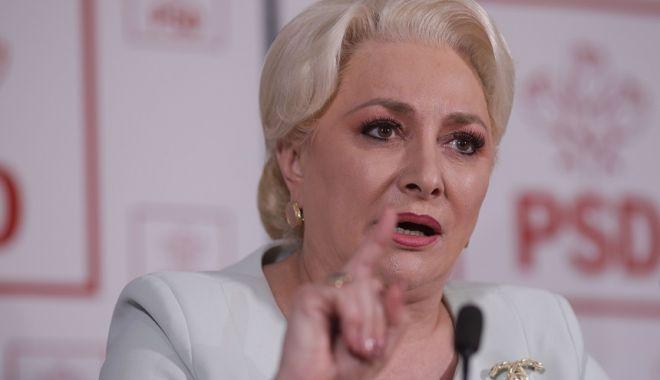 Foto: Viorica Dăncilă, întrebată de ce nu a demisionat: Pentru că sunt un om responsabil