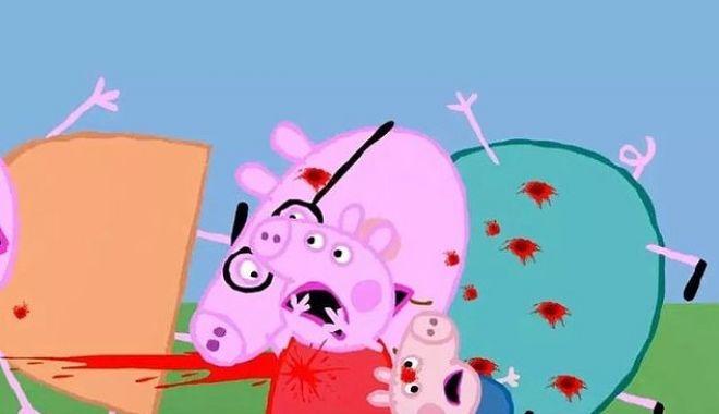 """Foto: Vă lăsați copiii să se uite la """"Purcelușa Peppa""""? Atenție, mămici, unele episoade conțin scene de o violență extremă"""