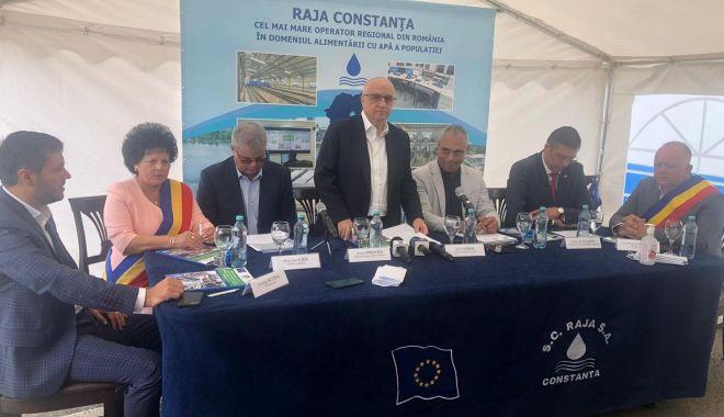 Foto: Rețelele de apă și canalizare din județul Constanța, extinse cu bani europeni