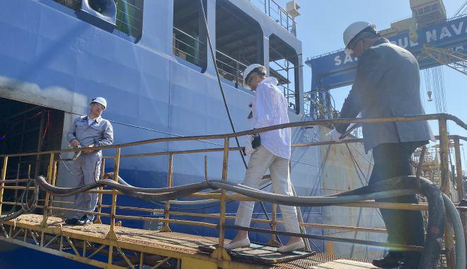 GALERIE FOTO. Ministrul Muncii şi Protecţiei Sociale, Raluca Turcan, în vizită la Şantierul Naval Constanţa - raluca12-1627376230.jpg