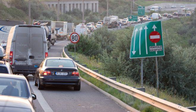 Foto: Restricții de circulație pe Autostrada Soarelui