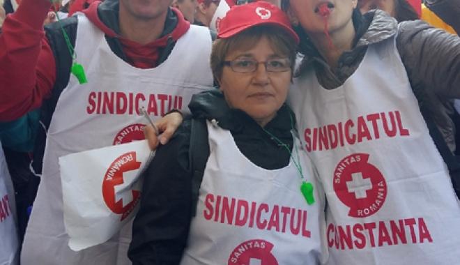 Foto: Sanitas Constanța s-a alăturat mitingului de pichetare a Ministerului Muncii