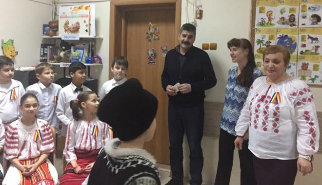 "Foto: Elevii Școlii ""Gheorghe Țițeica""  au celebrat  Mica Unire"