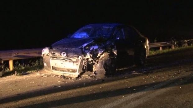 Foto: Localitate în beznă după un accident provocat de un șofer beat