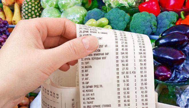 Foto: Alimentele s-au scumpit cu 5% în decurs de un an