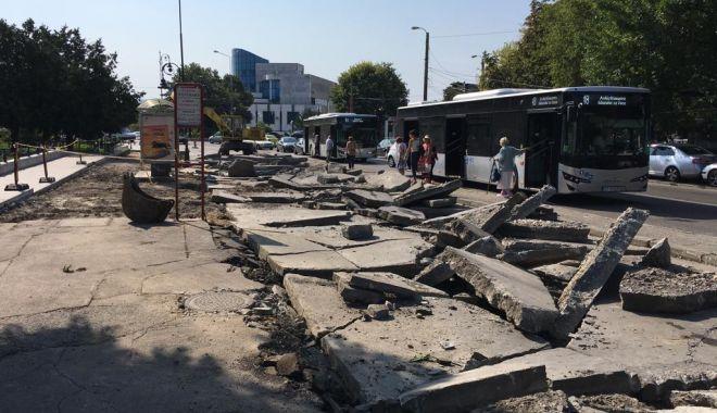 Foto: Lucrări de refacere a trotuarelor. Ce zone sunt vizate