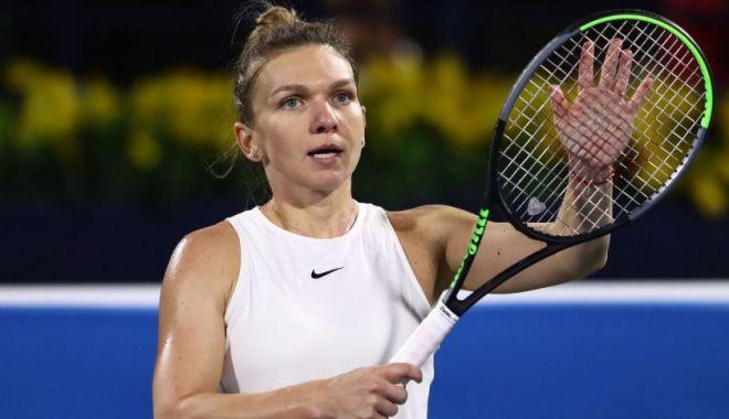 Foto: Simona Halep, calificată cu dificultate în sferturile turneului de la Praga
