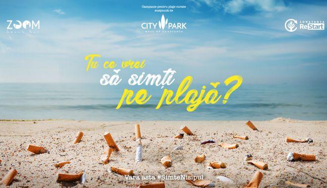 Foto: Fără chiștoace pe plajă, o inițiativă City Park Mall pentru o vară responsabilă