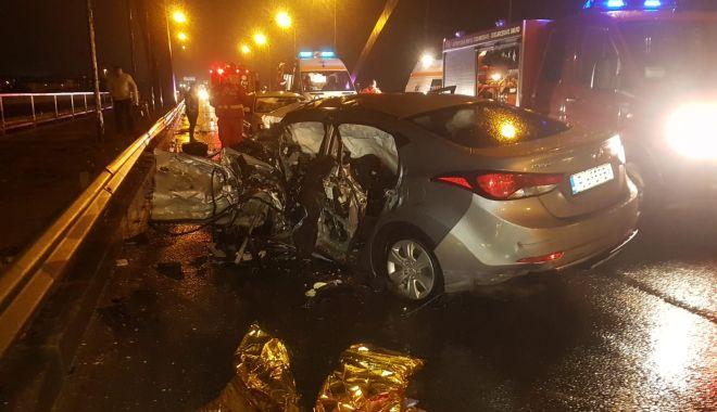 Foto: Șoferul vinovat de accidentul de la Ovidiu, reținut pentru 24 de ore