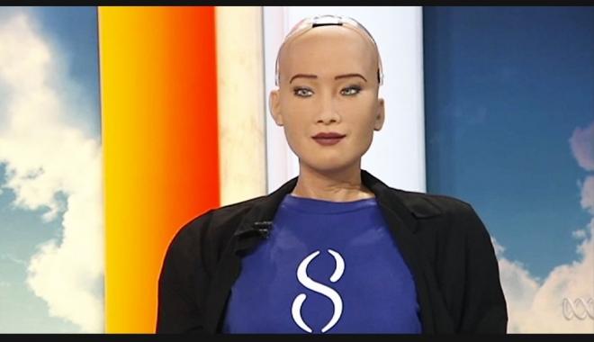 """Foto: IMAGINI INCREDIBILE! Primul robot din lume care a primit cetățenie: """"Vreau să trăiesc și să muncesc alături de oameni"""""""