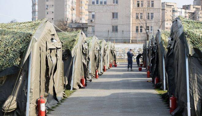 """Foto: Sistemul modular de pe stadionul """"Portul"""", predat Spitalului Militar Constanța"""