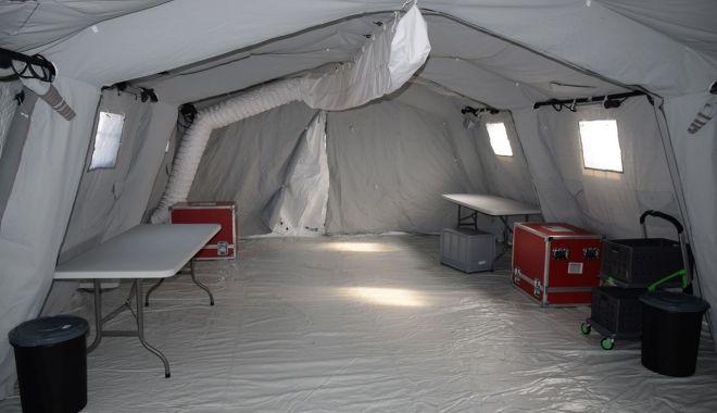 Spitalul de pe stadionul Portul, pregătit să primească pacienți.