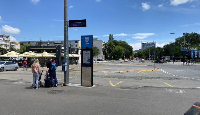 CT BUS. Staţia din faţa Gării Constanţa a liniei 100M şi a autobuzelor etajate se mută temporar - statia-1624610624.jpg