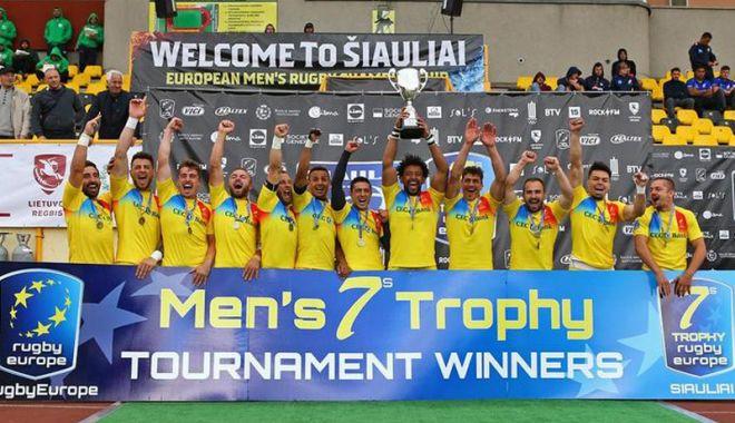 "Foto: ""Stejarii"", cei mai tari în Rugby Europe Men's 7s"