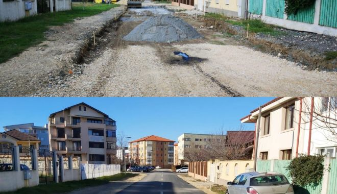 Foto: Strada Dumitru Kiriac, amenajată pentru o circulație mai bună