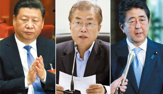 Foto: Summit în trei la nivel înalt, China-Coreea de Sud-Japonia, în decembrie