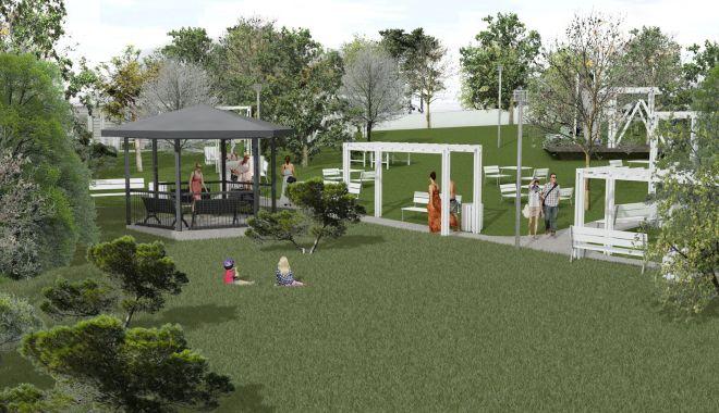 Foto: Primăria amenajează un parc nou pentru locuitorii orașului Techirghiol