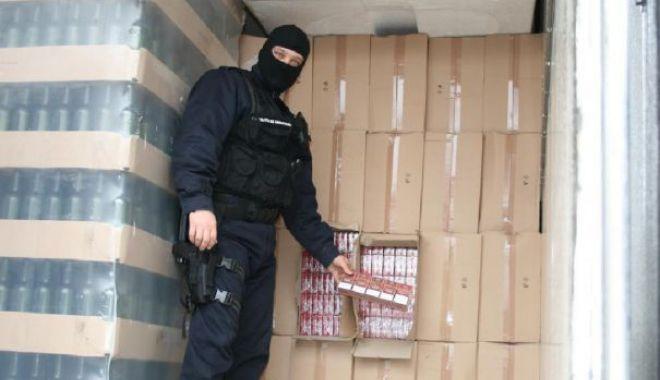 Foto: Captură la poarta de acces în Portul Constanța: peste o sută de pachete de țigări ascunse într-o mașină