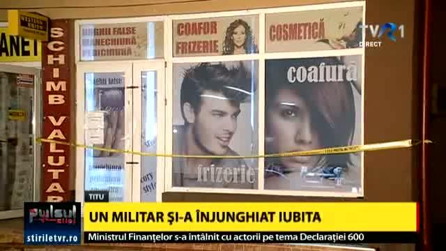 Foto: Militarul care și-a înjunghiat mortal concubina într-un coafor, arestat preventiv