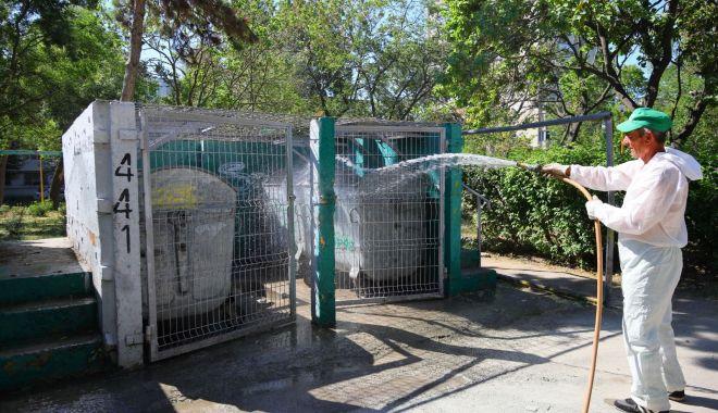 Toate platformele de deşeuri din oraş sunt dezinfectate - toateplatformele3-1600362749.jpg