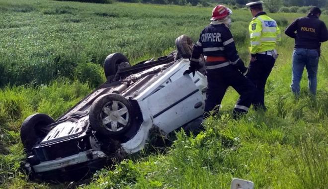 Foto: Tragedie lângă Constanța. Bărbat decedat, ambii săi copii sunt în stare gravă