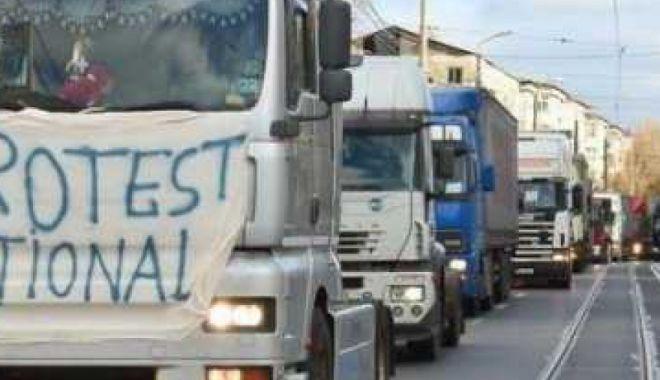 Foto: Transportatorii rutieri din România vor protesta în fața Parlamentului European