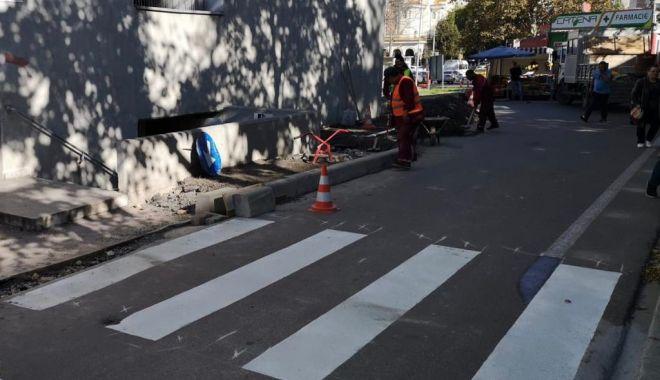 """Foto: Bucurie printre pietoni. Încă patru """"zebre"""", la Constanța"""