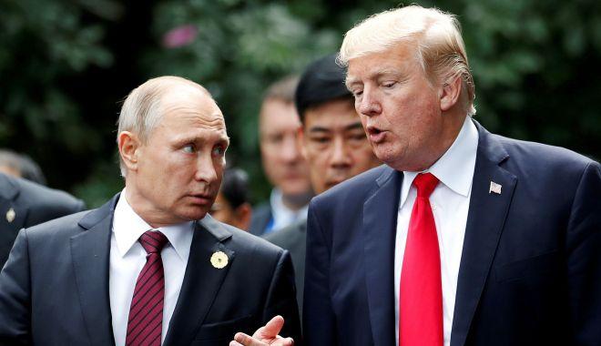 Trump afirmă că eventualele contacte cu Rusia în campania electorală nu sunt infracțiune - trumpputin-1533050886.jpg