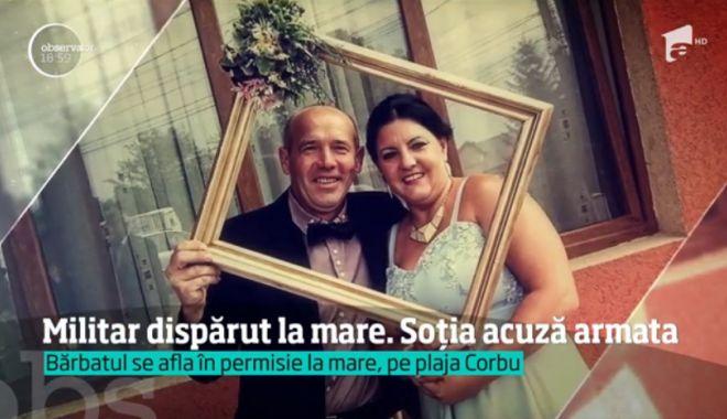 Foto: Soția militarului dispărut pe plaja din Corbu, acuzații cutremurătoare. Femeia e convinsă că bărbatul s-a înecat