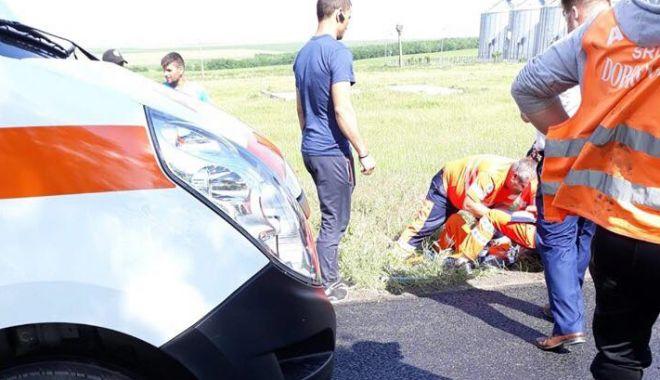 Foto: VIDEO. GRAV ACCIDENT RUTIER LA CONSTANȚA! Șoferul vitezoman nu a respectat semnalizarea temporară