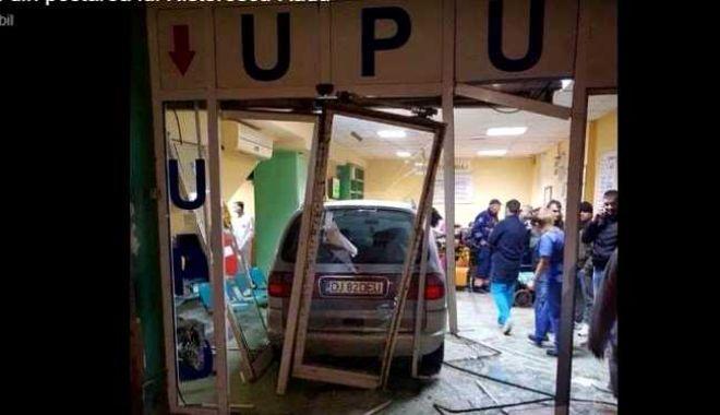 Foto: Bărbatul care a intrat cu mașina în UPU a Spitalului Județean, pus sub control judiciar