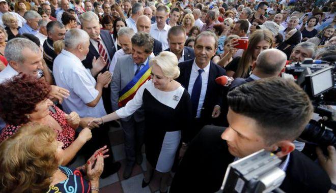 Viorica Dăncilă, jignită de protestatari, la Constanța.