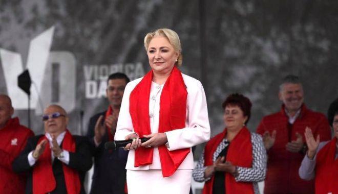 """Foto: Președintele PSD Viorica Dăncilă: """"Guvernul Orban este un pericol pentru România și trebuie oprit la vot!"""""""