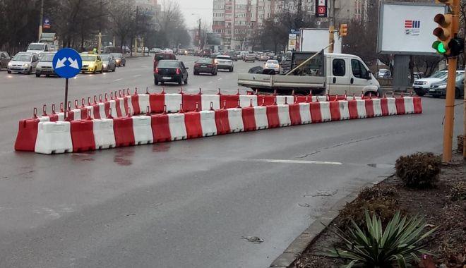 Foto: Atenție șoferi! Parapet montat pe bulevardul 1 Mai. La ce ajută