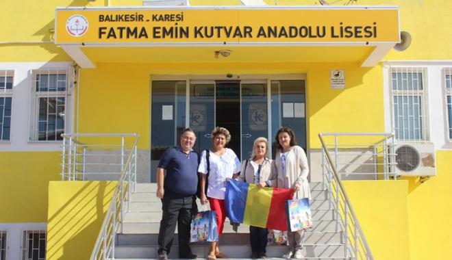 """Foto: Elevii de la Liceul """"Callatis"""",  în vizită la colegii lor din Turcia"""