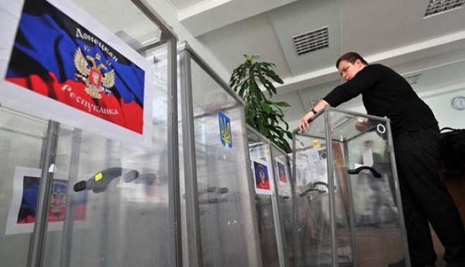 Foto: Referendum în Ucraina / Rusia respectă expresia voinței ucrainenilor din est