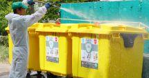 Zonele în care se acționează pentru dezinfecția platformelor de deșeuri