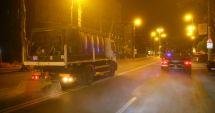 Noi străzi dezinfectate în municipiul Constanţa