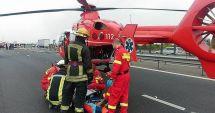 Accident la Albești: a fost solicitat elicopterul SMURD, iar patru victime au ajuns la spital