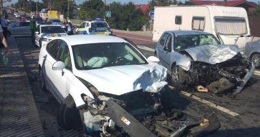 GALERIE FOTO/ Accident rutier grav în Agigea. Opt persoane au fost rănite