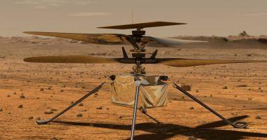 Microelicopterul Ingenuity trimis pentru a zbura în atmosfera planetei Marte, a fost testat cu succes