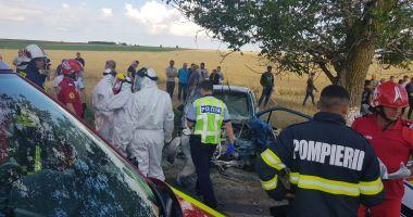 GALERIE FOTO / VIDEO. Accident între Ciocârlia și Cobadin! Sunt trei victime. O femeie decedată pe loc
