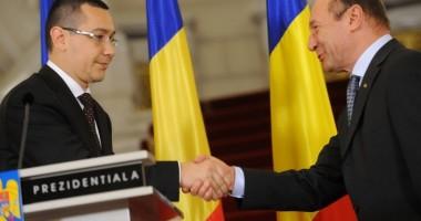 TRAIAN BĂSESCU și VICTOR PONTA, consultări la Cotroceni
