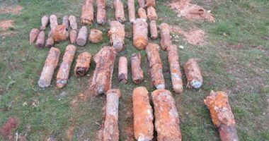 Bombe, proiectile, grenade și cartușe din Primul Război Mondial, descoperite cu detectoarele de metale