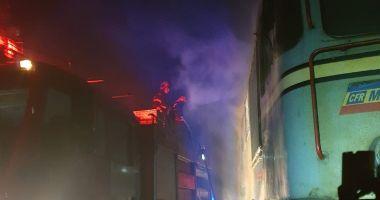 Cauza INCENDIULUI care a distrus o locomotivă, în zona industrială a Constanței